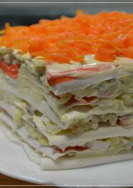 Торт – салат закусочный с крабовыми палочками