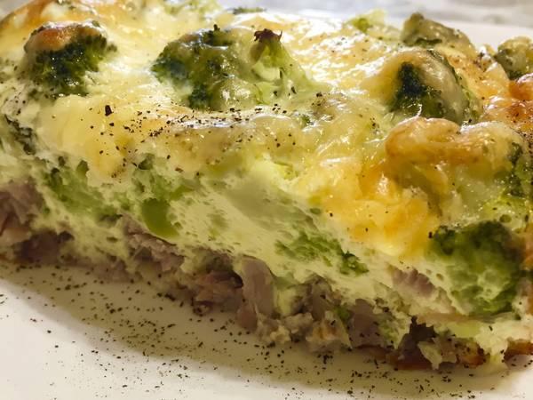 Запеканка с мясом и брокколи