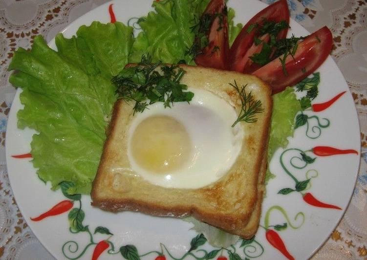 Горячие тосты в духовке на завтрак