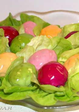 Пасхальная закуска из фаршированных яиц