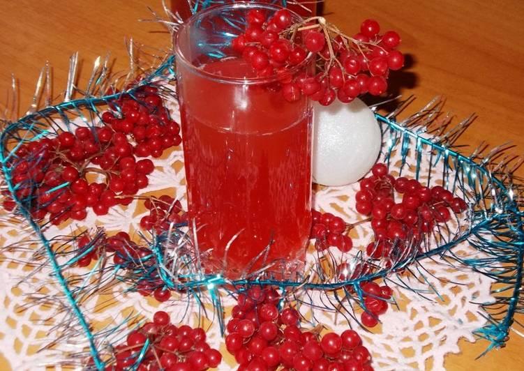 Праздничный напиток с калиной