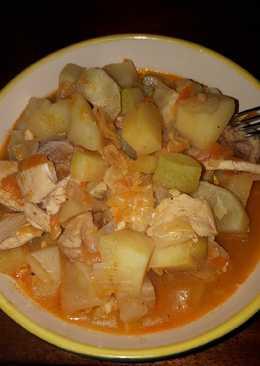 Овощное рагу с мясом🥩 #кулинарныймарафон