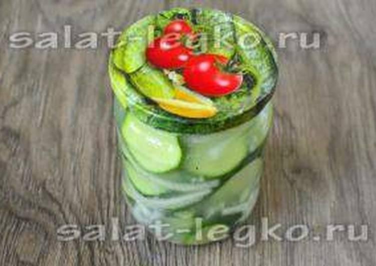 Салат нежинский из огурцов на зиму без стерилизации