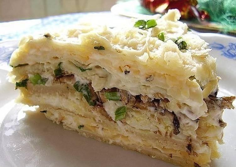 Шпротный торт