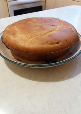 Пирог заливной с луком и яйцом