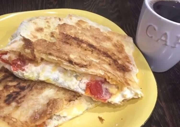Омлет с сыром из лаваша рецепт с фото 6