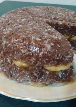 Шоколадно-банановый торт (без яиц)