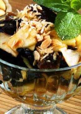Изумительный десерт с сухофруктами и орешками