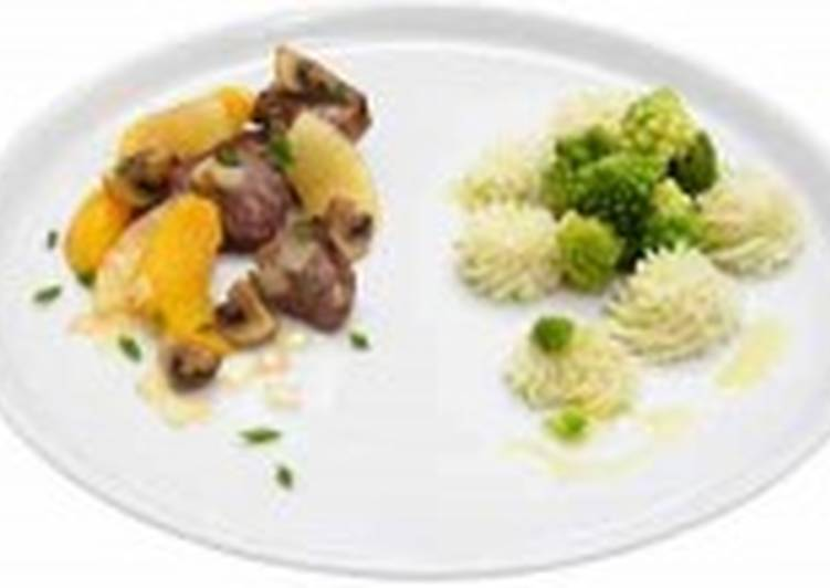 Картофельное пюре с романеско (2)