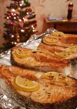 Стейки семги в духовке #кулинарныймарафон