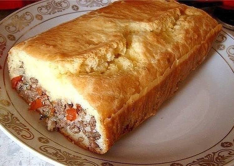 """""""Ленивый"""" пирог с начинкой"""