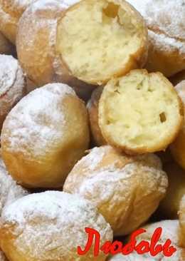 Пышки-пончики быстрого приготовления на сметане