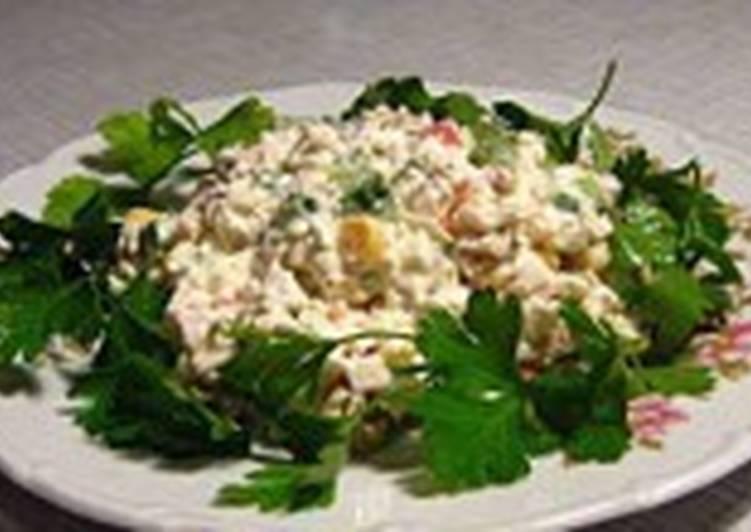 Салат с языком и рисом «Херсонский»
