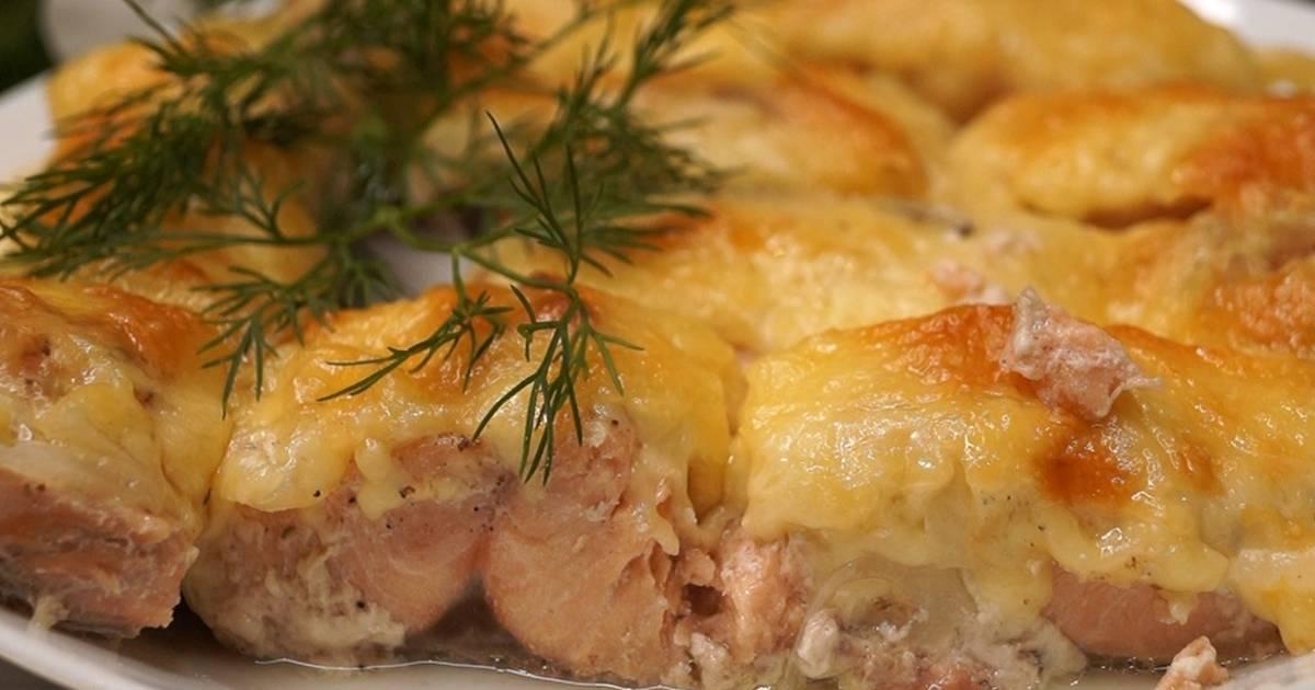 как приготовить горбушу сочной с картошкой в духовке