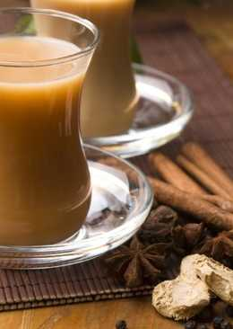 Имбирный чай с молоком