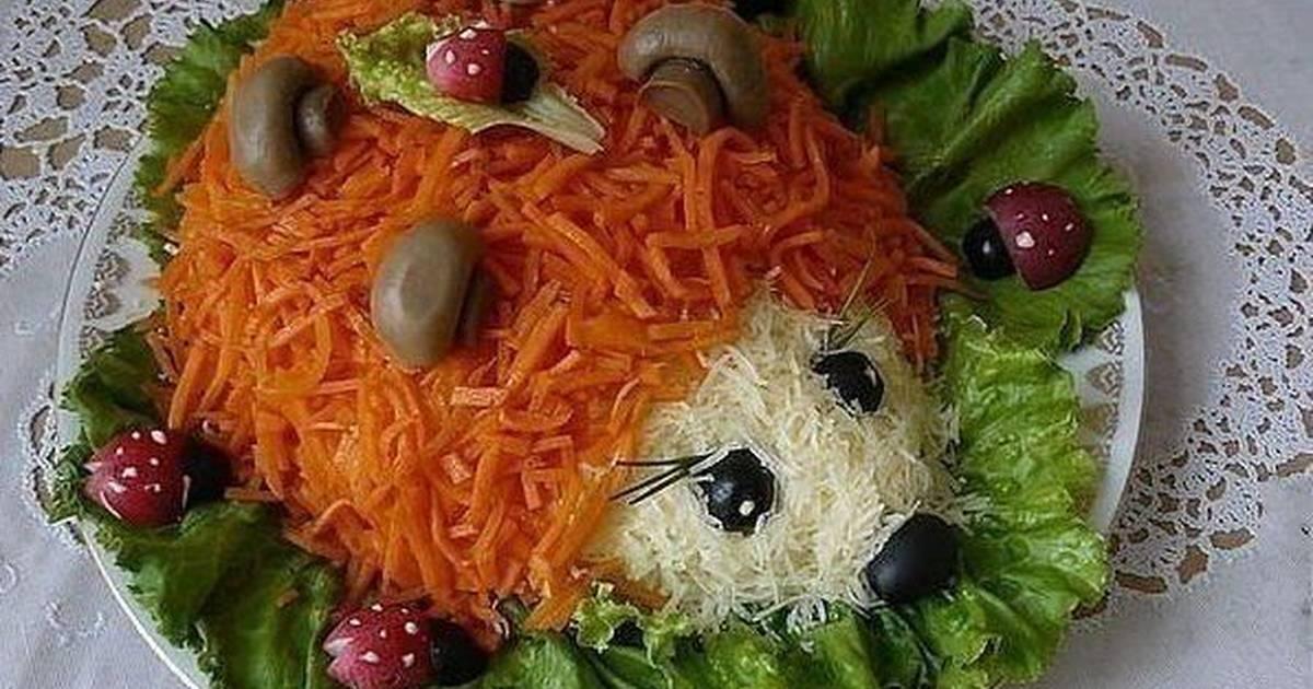 Салат в виде ежика