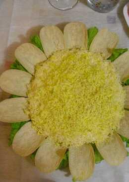 Салат Подсолнух. #кулинарныймарафон