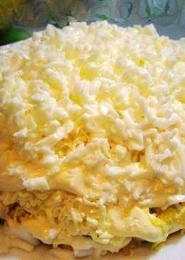 Салат Невеста с плавленым сыром и пекинской капустой