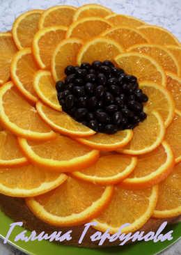 """Апельсиновый пирог """"Подсолнух"""""""