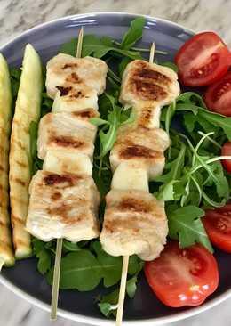 Куриные шашлычки с сыром халуми