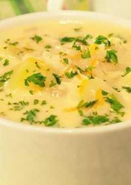 Нежный сырный суп с грибами