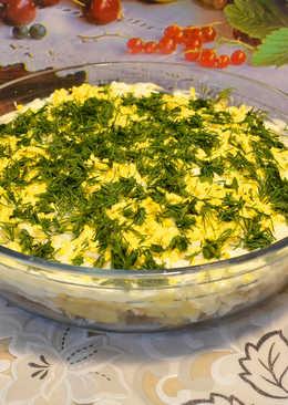 Салат из куриной грудки с корнем сельдерея и грибами. Легкий, ароматный, нежный на вкус