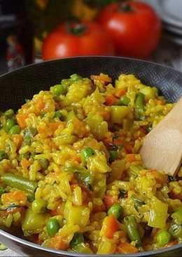 Овощная паэлья с кабачком 👩🍳👨🍳