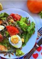 Салат с мясом, яйцом и овощами #пп #салат