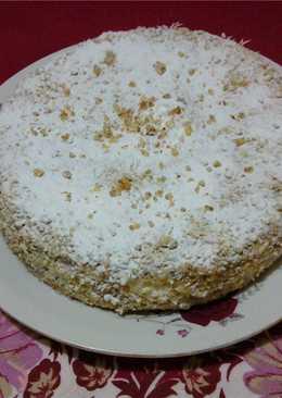 Торт ореховый бисквитно-кремовый