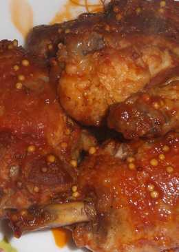 Курица в томате с французкой горчицей