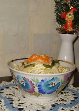 """Салат """"Итальянский"""" с макаронами, сыром и овощами - новогодний"""