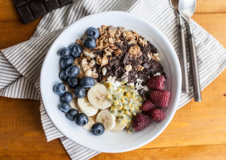 Завтрак с творогом и шоколадом