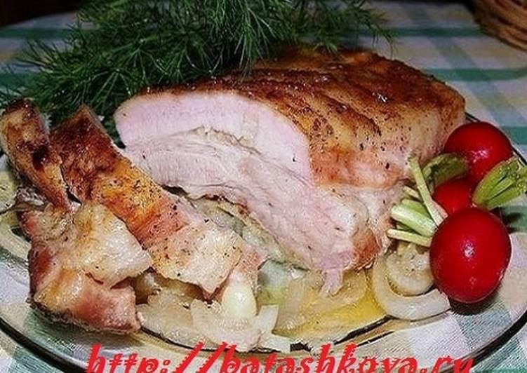Грудинка свиная в духовке и рецепт приготовления с фото