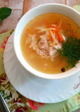 Куриный суп с яичной лапшой