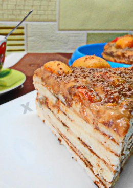 Торт минутка на сковороде без выпечки
