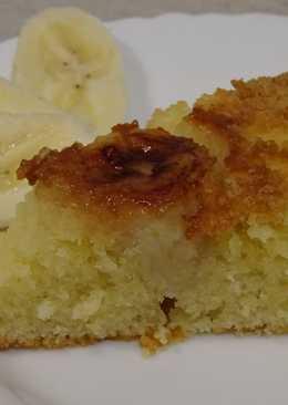 Пирог с бананом и карамелью