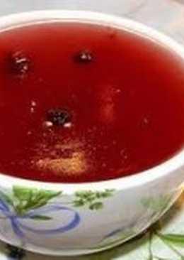 Кисель вишневый или черешневый с вином