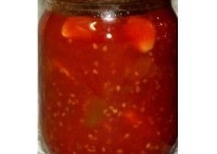 Кабачково-томатный соус-заготовка