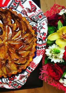 Морковный пирог с творогом и яблоками