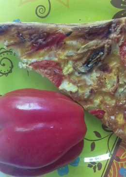 Домашняя пицца с курицей и грибами #кулинарныймарафон