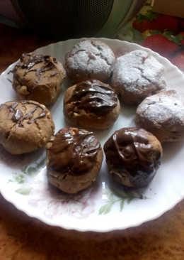Шоколадное печенье с орехами-вкусно и быстро