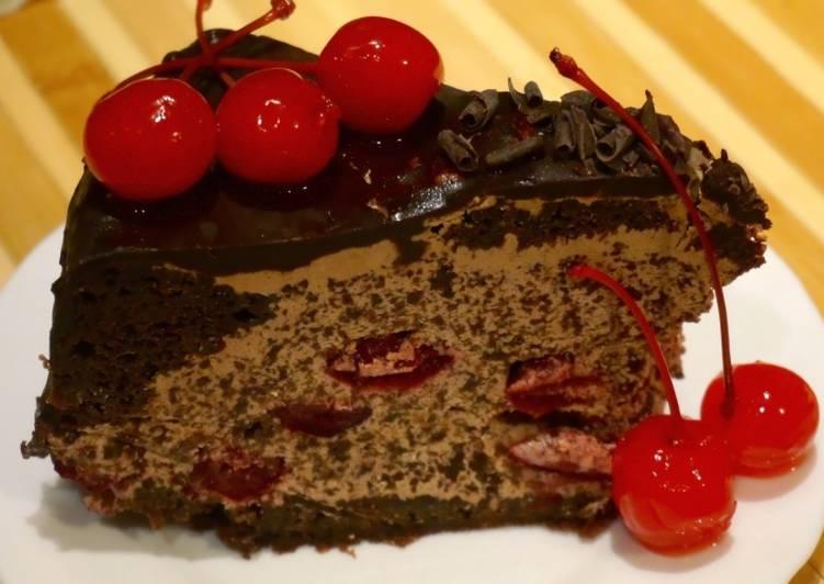 Торт Чёрный лес с пошаговым фото ( легкий рецепт)