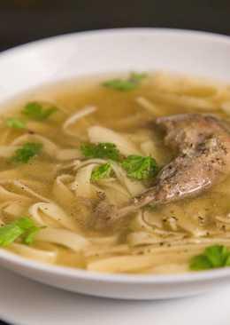 Суп из перепелов с лапшой