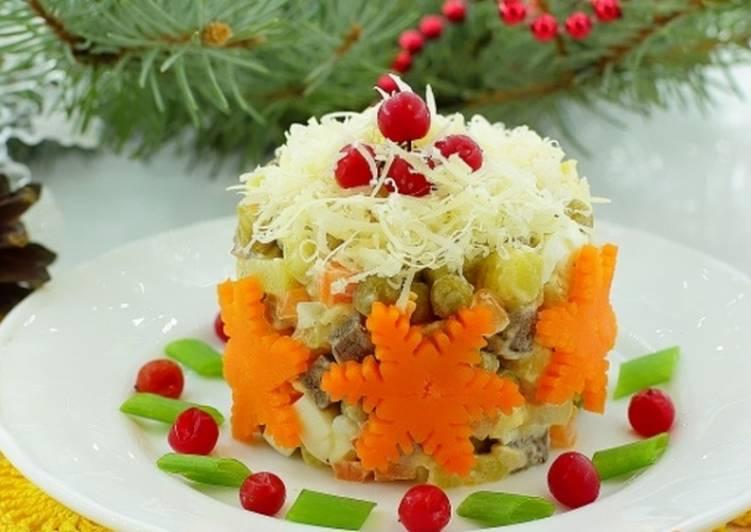 Салат «Новогодний оливье»