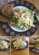 Салат с крабовым мясом летний