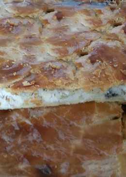 Рыбный пирог из свежей рыбы с рисом