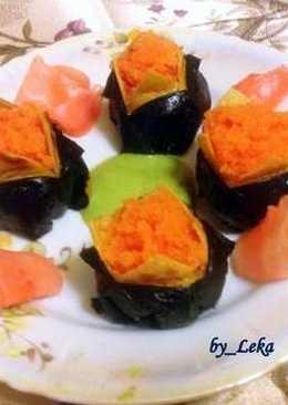 Темари-суши с нори и японским омлетом #Чемпионатмира #Япония