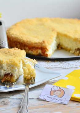 Рассыпчатый пирог с творогом и финиками