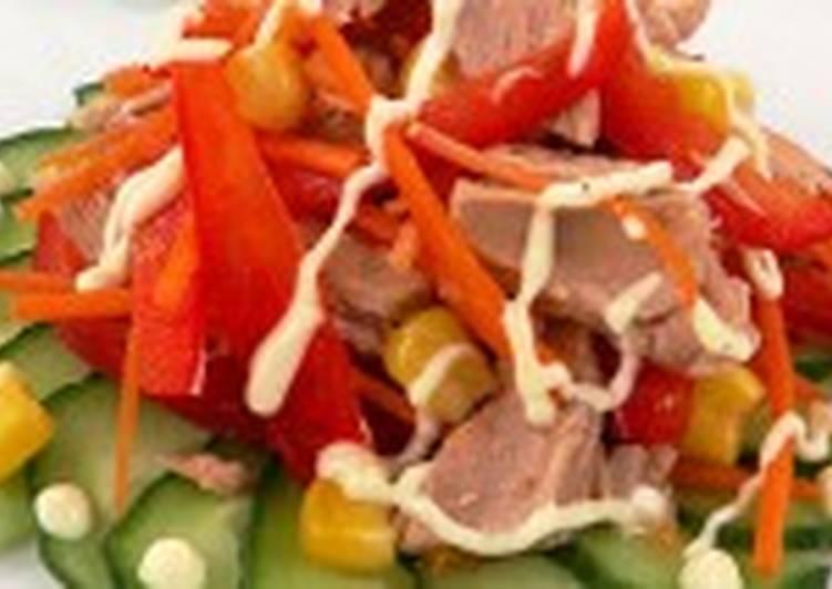 Салат из тунца с кукурузой (2)