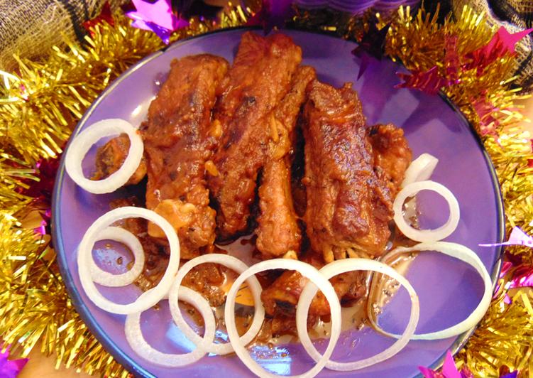 Свиные ребрышки в мультиварке на Новый год
